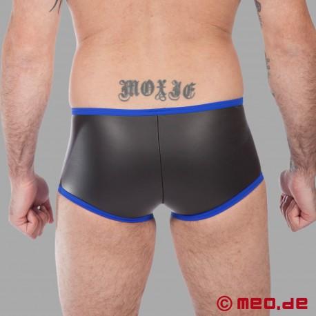 Fetisch Neopren - Enger Boxer aus Neopren in schwarz/blau