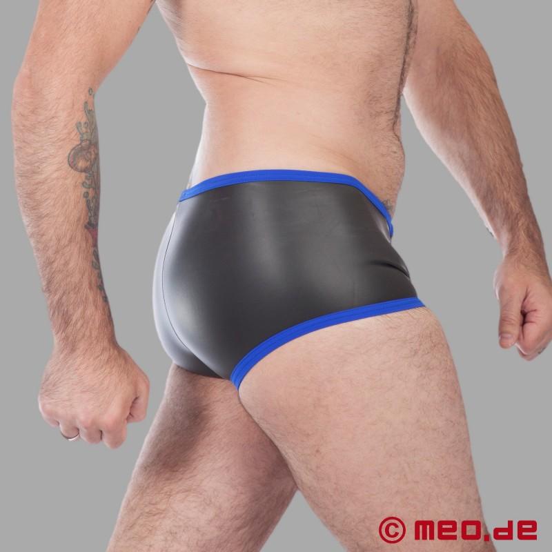 buy fetish neoprene neoprene hipster boxer black blue