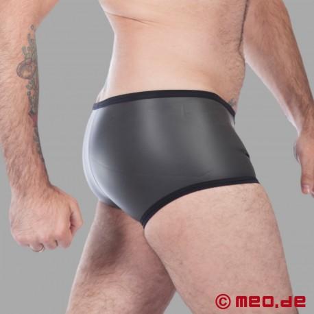 Fetisch Neopren - Enger Boxer aus Neopren in schwarz