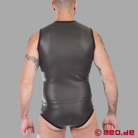 T-shirt en néoprène avec fermeture éclair - noir