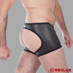 Fetisch Neopren – Neopren Boxer– hinten offen – schwarz