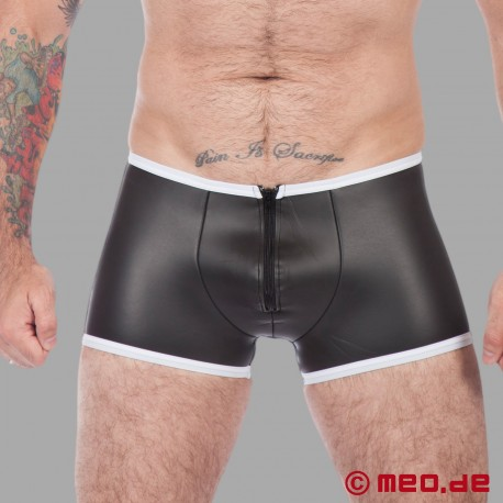 Fetish Neoprene - Backless Neoprene Boxer - Black/White