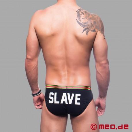 Slip pour les esclaves - Slip avec un imprimé SLAVE