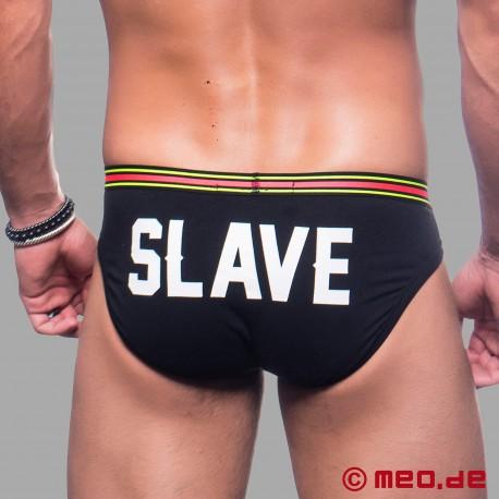 Sklaven Slip - Slip mit Aufdruck SLAVE