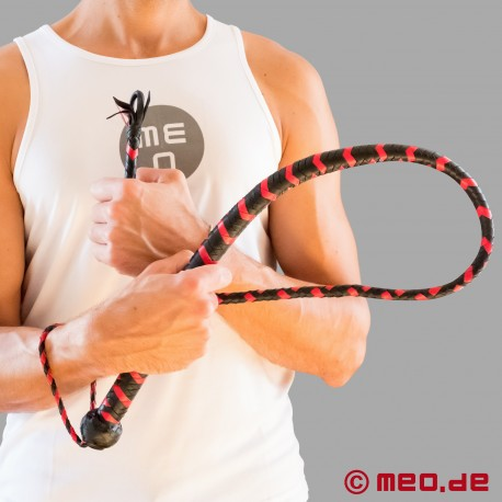 Black and Red Leather Diabolus Whip