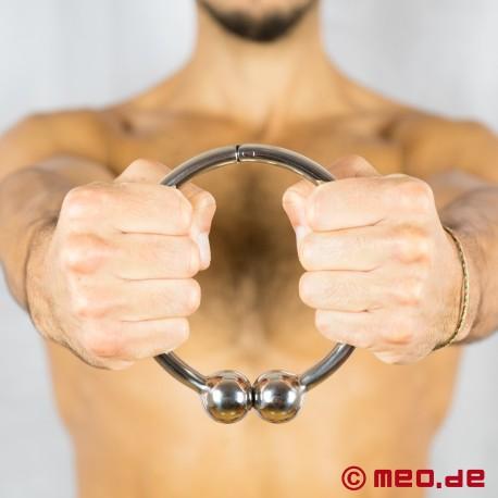 Collare con chiusura a sfera Euphoria - collare fetish in acciaio