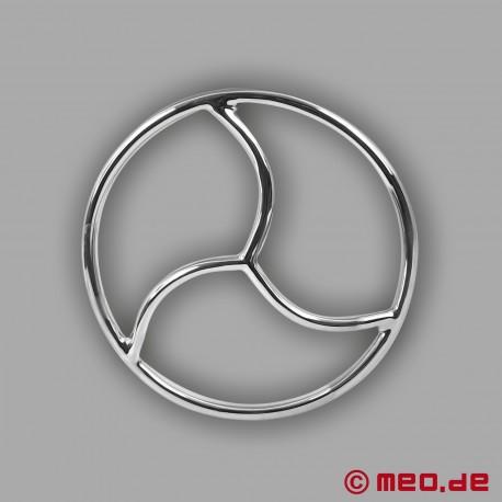 Anello shibari in acciaio inossidabile con triscele