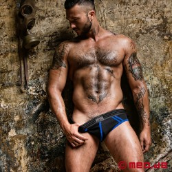 Fetish Gear Core Jock Brief in Black / Royal