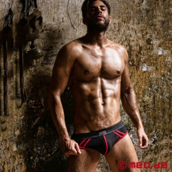 Fetish Gear Core Jock Brief in Black / Red