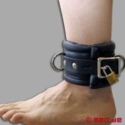 Manette per caviglie richiudibile con lucchetto a tempo e imbottitura robusta