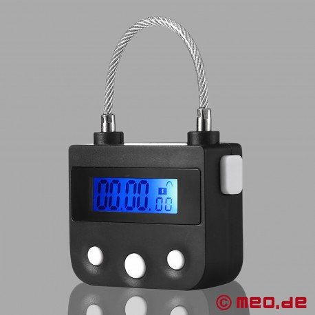 Lockable butt plug with time lock