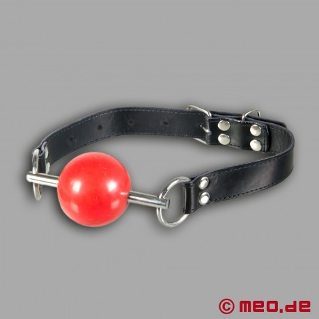 Mundknebel mit rotem Ball Black Berlin