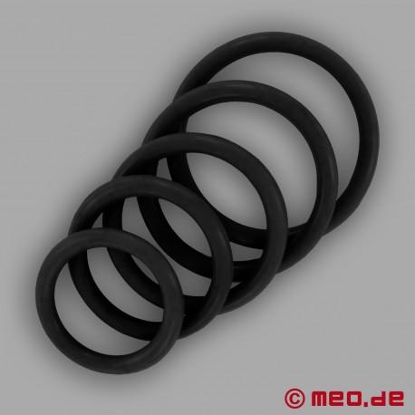 CAZZOMEO Black Rubber Cock Ring
