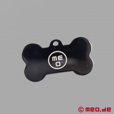 Bone-shaped puppy dog tag