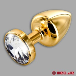 Anal Jewel Gold Star Diamanté - Luxury Butt Plug with Crystal