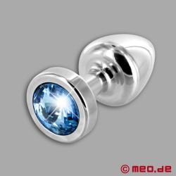 Anal Schmuck Silver Star Zaffiro – Luxus Buttplug mit Kristall