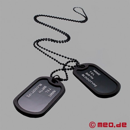 Black Dog Tag with chain