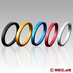 CAZZOMEO Easy Go - Coloured aluminium cock ring