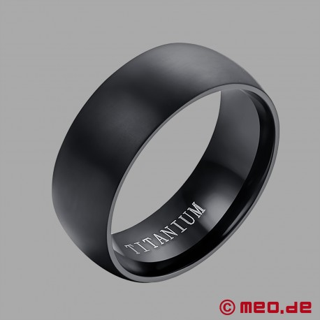 Black Berlin - Black titanium men's ring