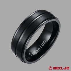 Black Berlin - Black profiled titanium men's ring