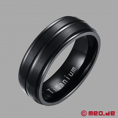 MEO Black Berlin Men's Ring Titan