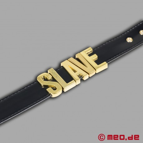 Lady MEO - SLAVE collar in gold
