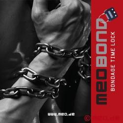 Complete self bondage set with 5 time locks