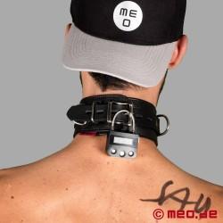 Collier de bondage DeLuxe verrouillable avec cadenas à minuterie