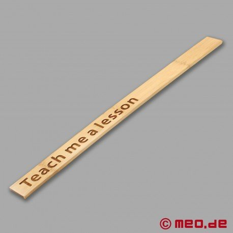 "HURTME Langes Bambus Paddle ""Teach me a lesson"" – MEO® Spanking"