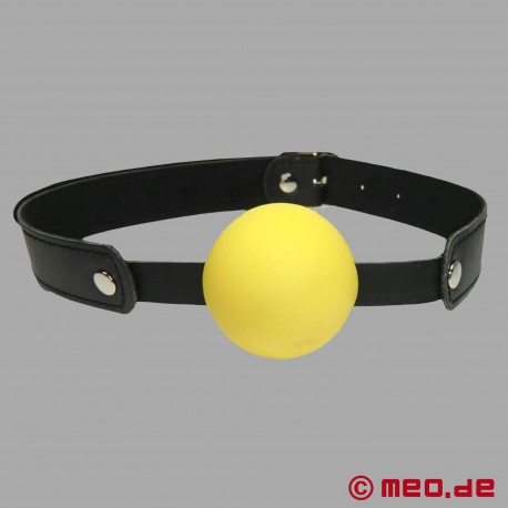 Gelber Ballknebel - Knebel mit gelbem Ball