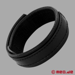 Leather cock ring with Velcro fastener