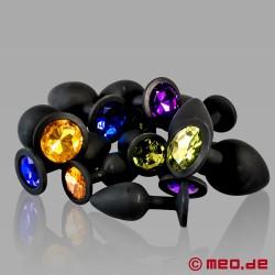 Anal Juwelen - 3er Set Luxus Analplugs aus Silikon mit Kristall