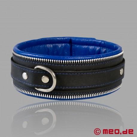 Collier de bondage Code Z noir/bleu