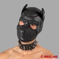 Collier à pointes noir pour chien humain