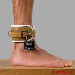 Abschließbare Fußfesseln mit Zeitschloss - Psychiatrie Style