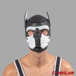 Bad Puppy - maschera da cane in neoprene - nero/bianco