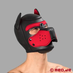 Bad Puppy Neoprene Hood - black/red