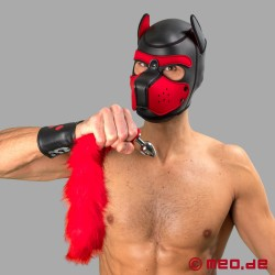 Plug anal Bad Puppy avec queue à fourrure rouge – Cosplay & Human Pup Play