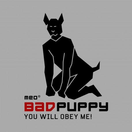 Manchette Puppy en cuir avec pattes – noir / bleu