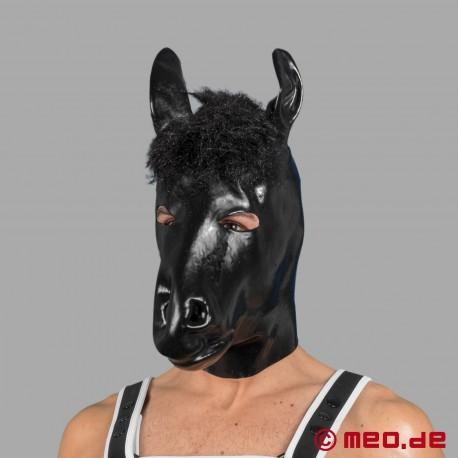 Masque à tête de cheval en latex pour les poneys humains