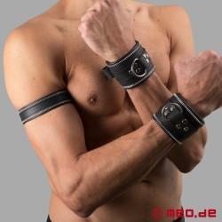 Bracelet en cuir Code Z noir