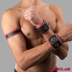 Bracelet en cuir Code Z noir/rouge
