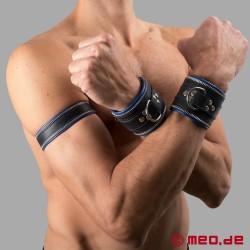 Bracelet en cuir Code Z noir/bleu
