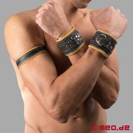 Polsini bondage per le mani (nero / giallo)