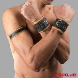 Bracelet en cuir Code Z noir/jaune