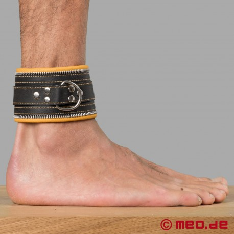 Polsini bondage per caviglie (nero / giallo)