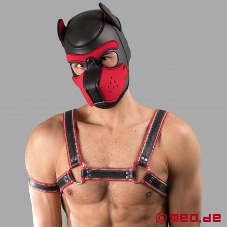 Harnais macho Code Z noir/rouge