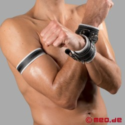 Code Z Leather Wristband black/white