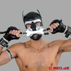 Bad Puppy bone gag - White dog bone gag