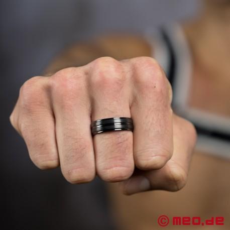 Black Berlin - Black profiled titanium men's ring